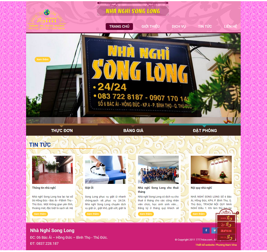 Website nhà nghỉ Lâm Hiếu