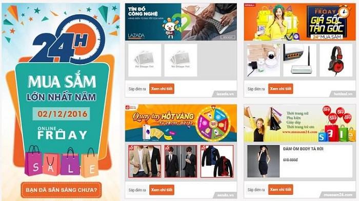 Ngày hội mua sắm trực tuyến Online Friday 2016