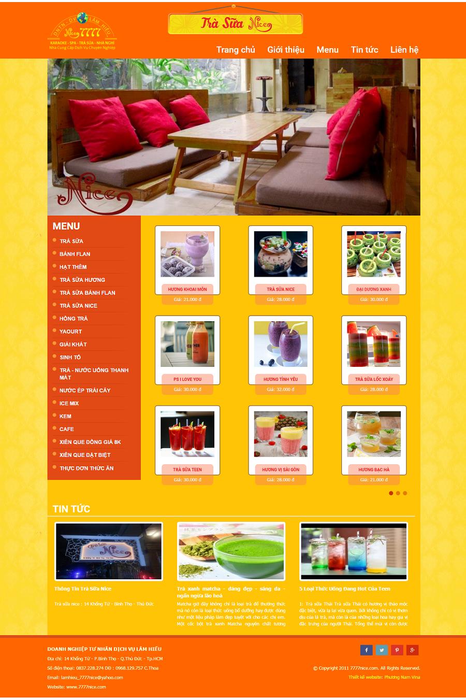 Website trà sữa Lâm Hiếu