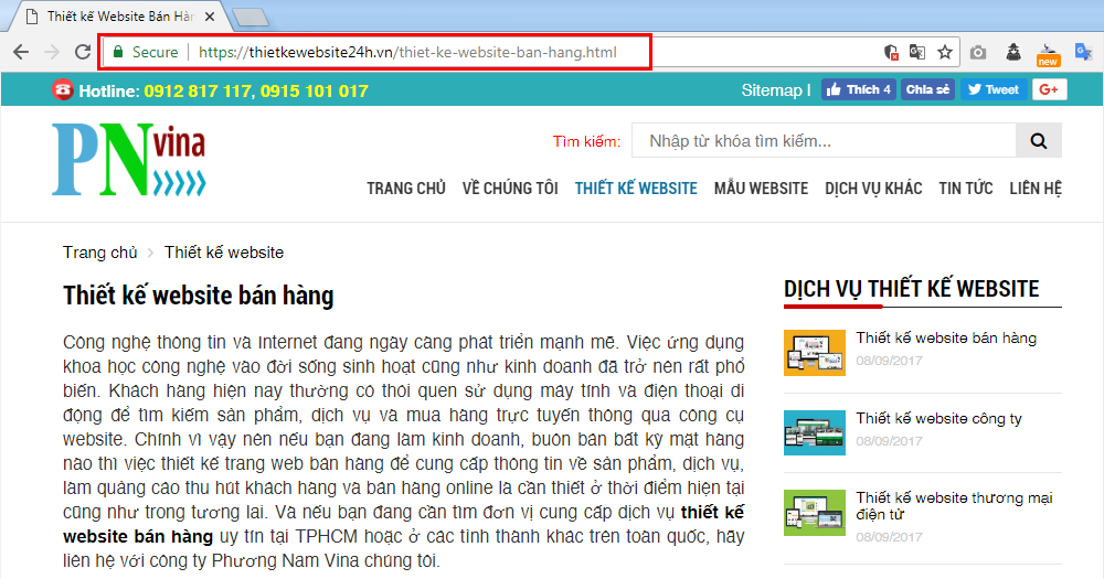 URL website chuẩn SEO