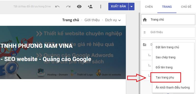 Cách tạo website miễn phí trên Google
