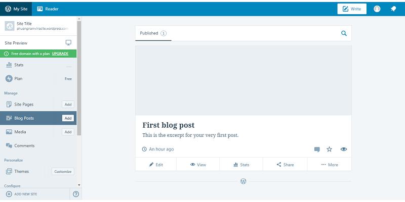 Cách tạo website Wordpress