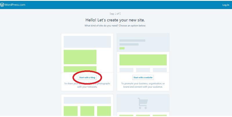 Đăng ký tạp website Wordpress (Bước 1)