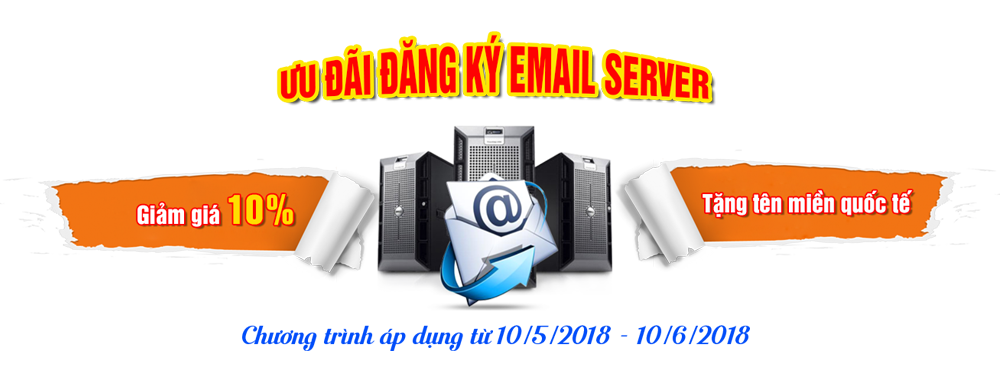 Khuyến mại dịch vụ email tên miền