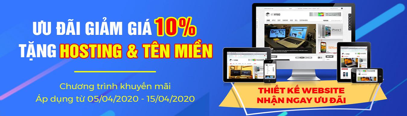 Khuyến mại thiết kế website