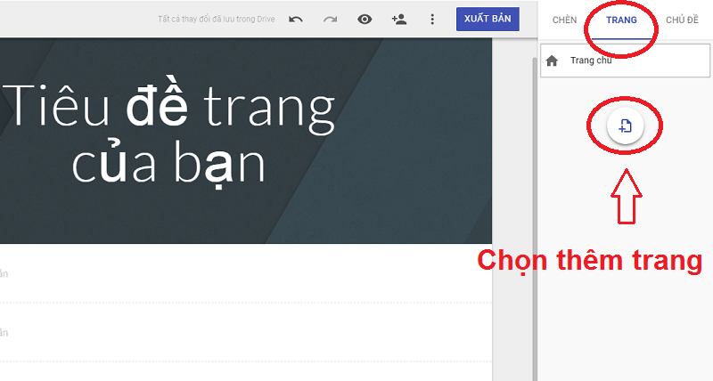 Lập website miễn phí trên Google