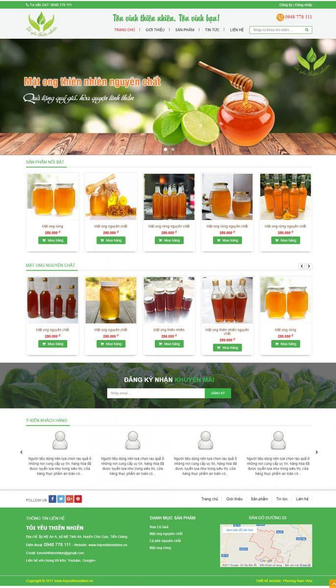 Mẫu website bán hàng giá rẻ