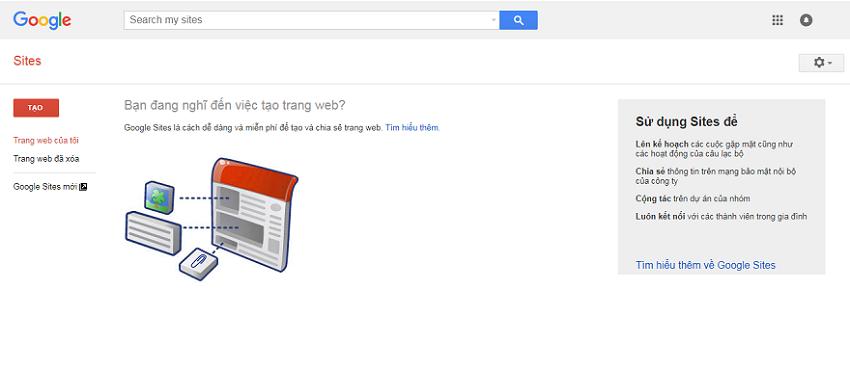 Tạo website với Google Sites