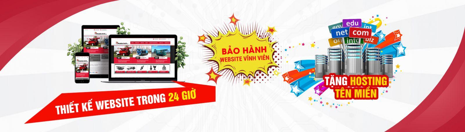 Thiết kế website giá rẻ 24h