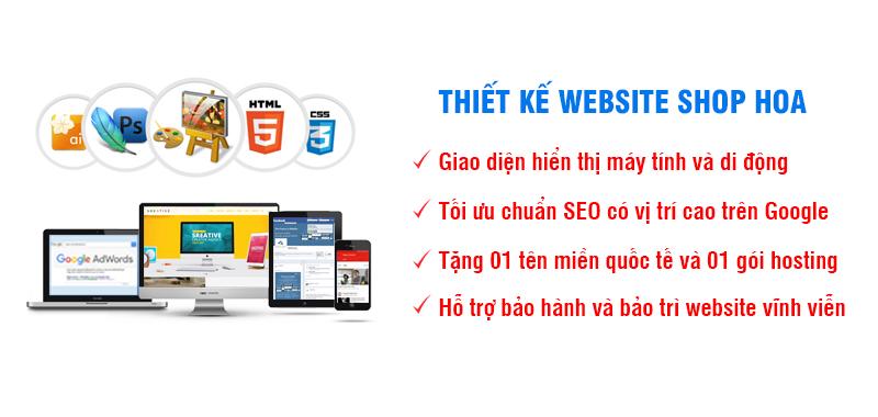 Thiết kế website shop hoa