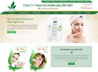 Mẫu website bán hàng mỹ phẩm - MS11