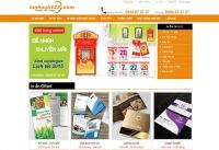 Mẫu website công ty in ấn - MS04
