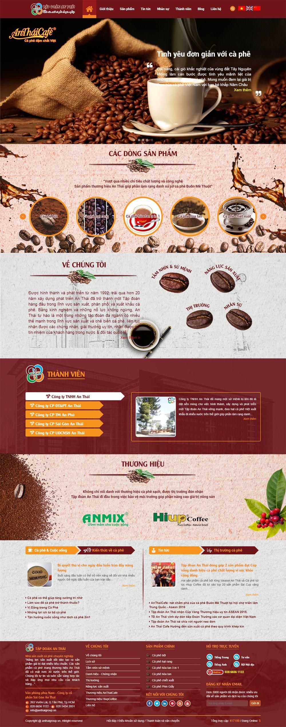 MS3 - Mẫu website bán cà phê