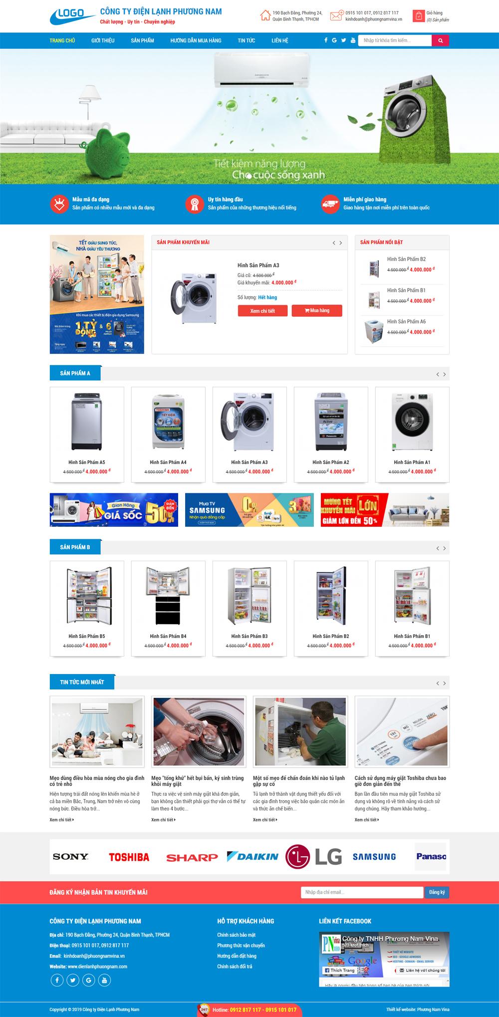 Mẫu trang web công ty - MS6