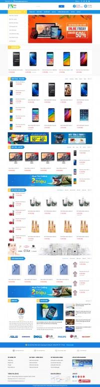 Mẫu web bán hàng chuyên nghiệp
