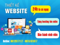 Mẫu website thiết kế nhanh 24h
