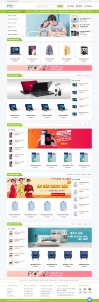 Website Bán Hàng - Mẫu 08
