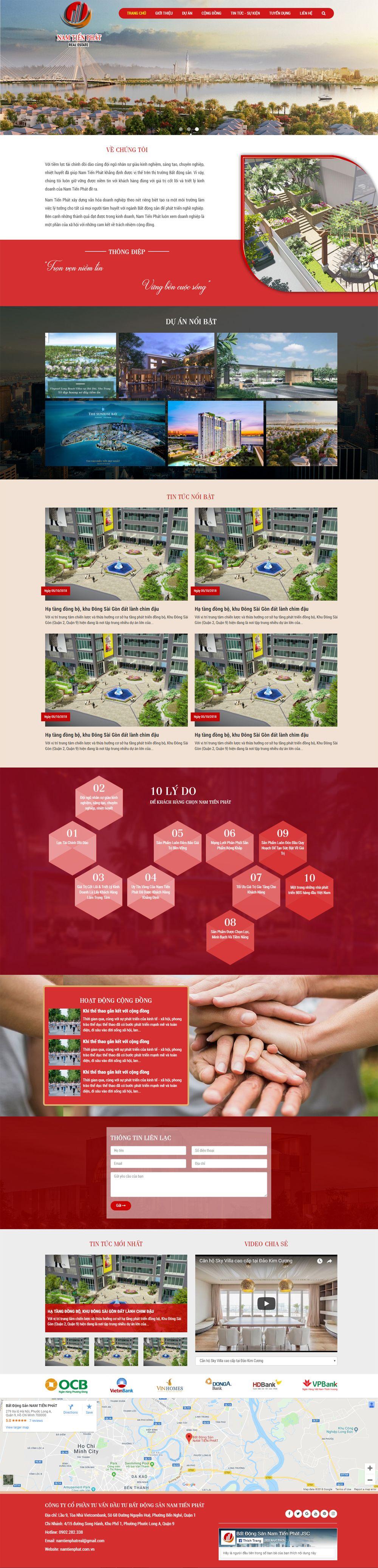 Mẫu website bán nhà đất
