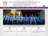 Mẫu website công ty bảo vệ - MS20