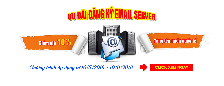 Slider-Khuyến mại dịch vụ Email Server